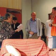 Nicole Malatray, Michel Chanelière avec les acteurs : le stress pendant l'entracte