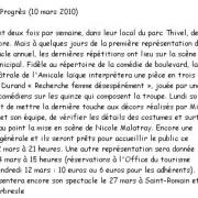 Copie de l'article du Progrès du 10 mars 2010