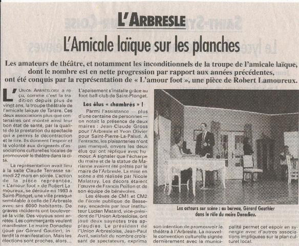 Article de presse L'Arbresle