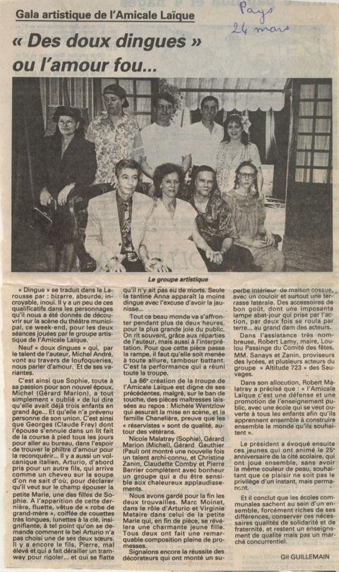 Le Pays du 24 mars 1995