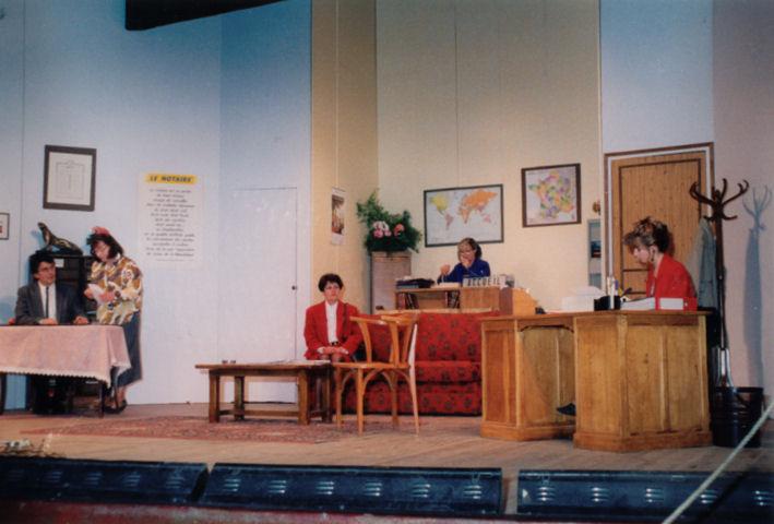 Claude Frey, Claudette Comoy, Solange Frey, Michèle et Erika Wentzlow